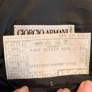 Giorgio Armani Suits & Blazers - Giorgio Armani Le Collezion grey wool blazer 40L